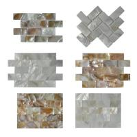 Quality Contemporary Unique 3D Shell Mosaic Tile Patio Table Mosaic 2mm Thickness wholesale