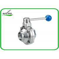 Quality High Sanitary Ball Valves , Stainless Steel Butterfly Valve For Beverage Industry wholesale