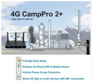 China Campro LTE 4G Signal Amplifier , Universal WiFi Range Extender Kit For Caravan on sale