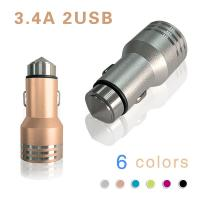 Quality Low Temperature 2 in 1 Universal USB Car Charger Adapter DC 12V~24V wholesale
