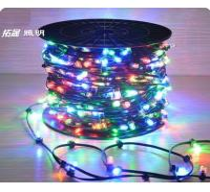 China 100m led string lights outdoor crystal clip copper fairy lights 666 led 12v rgb xmas light on sale