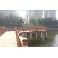 Quality Exterior WPC Fence Panels for Lawn and Park , Brown Composite Decking wholesale