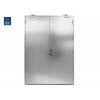 China Double Swing Reinforced Stainless Steel Fire Rated Doors on sale
