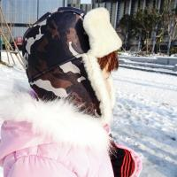 China Classical Female Sheepskin Shearling Trapper Hat For Kids ODM Designs on sale