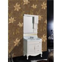 Quality Vanity PVC Classic Bathroom Vanities With Single Vanity Sink / Cabinet Mirror / Basin wholesale
