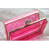 Quality Red Party acrylic makeup storage boxes / perspex boxes Eco-Friendly wholesale