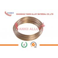 Cheap CuMn12Ni4 Manganin Wire 6J13 / 6J12 / 6J8 For Precision Instrument for sale