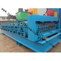 Quality High Efficiency Double Layer Cold Roll Forming Machine for Roofing Tile / Wall Panel wholesale
