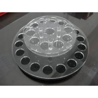 Quality Round acrylic lipstick display holder with holes / acrylic display shelves wholesale
