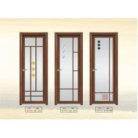 Quality Double Tempered Interior Glass Door 6003 Aluminum Frame For Bathroom wholesale