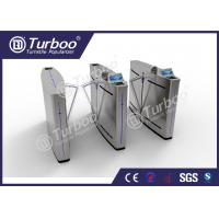 Quality Mechanism Stainless Steel Flap Barrier Turnstile With RFID Card Reader wholesale