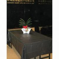 China 54x108-inch disposable plastic table cover on sale