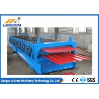 China Panasonic PLC Control Double Layer Roll Forming Machine Metal Roofing Corrugated on sale