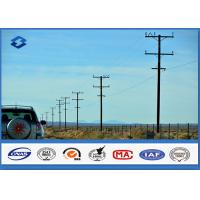 China Steel Column Electric Transmission Line Electric Utility Pole With Material Q345 ASTM A572 Gr50 on sale