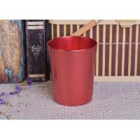 Quality Decoration Red Copper V Shaped Cup Metal Candle Jar Tin Candle Containers wholesale
