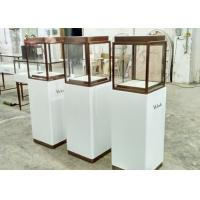 Quality Luxury Custom Glass Display Cases / Museum Display Cabinets Hidden Strip Lights wholesale