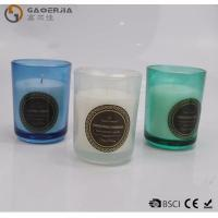 Quality Smokeless Color Spraying Glass Cup Paraffin Wax Candle No Harmful wholesale