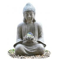 Quality Outdoor Buddha Water Fountain For Garden , Customize Voltage Granite Color wholesale