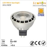 China promotion 3000k 4000k cree cob led mr16 dimmable 12v 5w 7w with die-cast aluminum on sale