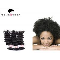 China Natural Black Curly Wave Mongolian Hair Extensions / Grade 6A Virgin Hair on sale