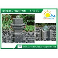 Quality Glass Rolling Ball Small Garden Water Features , Different Shape Granite Ball Fountain wholesale