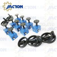Buy cheap Best quality worm electric transmission scaffold base jack screw jack mechanism mechanical worm gear screw jack from wholesalers