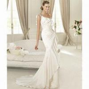 China 2012 New Arrival Satin One-shoulder Elegant Bridal Dress on sale