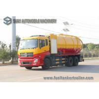 Quality Dongfeng 15000L 10 Wheel Vacuum Tank Truck 270hp High Pressure Cleaning And Sewage Suction wholesale