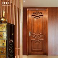 Quality Safety Residential Solid Hardwood Internal Doors With Handmade Carved Flowers wholesale