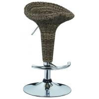 Quality Contemporary French Bistro Bar Stools Rattan Bar Chairs 385 * 1.2mm Base wholesale