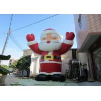 Cheap Attractive Outdoor Inflatable Christmas Decorations Blow Up Santa Claus 8mH for sale
