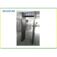 China Body Temperature Test Door Frame Metal Detector , Sound Alarm Walk Through Security Gate on sale