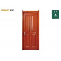 China PU Painted 4 Panel Pinewood Plain Wooden Door on sale