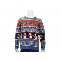 China Long Sleeve Ugly Christmas Sweater With Christmas Trees Feature Patterns For Men on sale
