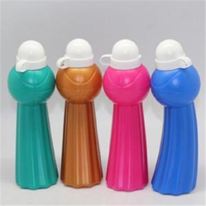 Quality 600ML foldable sports ball shaped water bottle,bending plastic water bottles,basketball water bottle wholesale