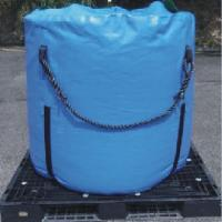 High Strength Blue Recycled Jumbo Bag Storage Full Open Top / Filling Spout Top