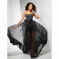 Buy cheap Organza Black Promotional Dress, ODM Orders are Welcome from wholesalers