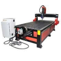 Quality 4*8 Feet 4 Axis Wood CNC Router with Underneath Rotary Axis/Mach3 Control wholesale