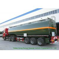 Quality 3 Axles Chemical Tanker Truck for 30 - 45MT Hydrofluoric Acid / HCL Transport wholesale