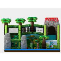 China Inflatable Rock Climbing Slide / Green Theme Slide Inflatable Forest Dinosaur Theme Fun City on sale