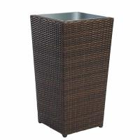 Quality Brown Rattan Wicker Hand Weave Finishing Outsite Flower Pots wholesale