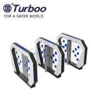 Quality Security Optical Speed Gate Turnstile RFID Card Reader Facial Recognition Gate With Servo Motor 240V wholesale