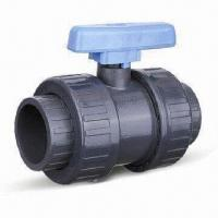 Quality PVC Double-union Ball Valve with One-way Handle and Plain Socket wholesale