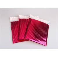 Quality Rose Pink Metallic Mailing Envelopes , Colored Bubble Mailers For Transport wholesale