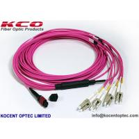 Quality OM4 MPO MTP Patch Cord LC SC  Connector 8 12 24 Core  Pink Violet LSZH Cover wholesale