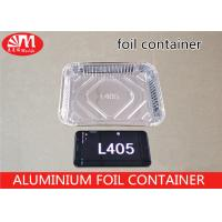 Quality L405 Aluminium Foil Packaging Rectangle Shape Shallow Tray Foil Container 600ml Volume wholesale