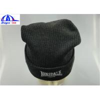 Quality Winter Custom Knit Acrylic Adult Mens Beanie Hats With Embroidery Customized wholesale