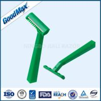 Quality Green Color Disposable Double Edge Razor , Goodmax 2 Blade Disposable Razor wholesale