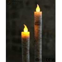 Quality Warm White Light Taper Led Candles With Moving Flame AA Battery Type wholesale