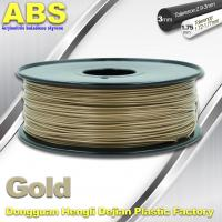 Quality Custom Gold Conductive ABS 3d Printer Filament 1.75 mm / 3.0mm Plastic Materials wholesale